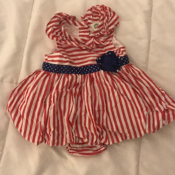 Little Me Other - Baby girl 4th of July dress